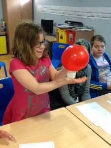 Kestrels Class conducting an experiment to look at reversible and irreversible changes