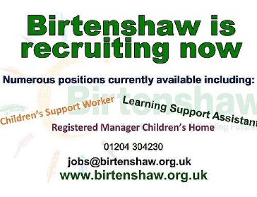 Birtenshaw Group are Recruiting Now!